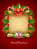 Christmas holiday greetings script — Vettoriale Stock