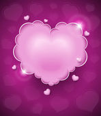 Pink glamour heart cloud — Stock Vector