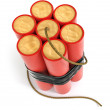 Explosive dynamite sticks - Stock Photo