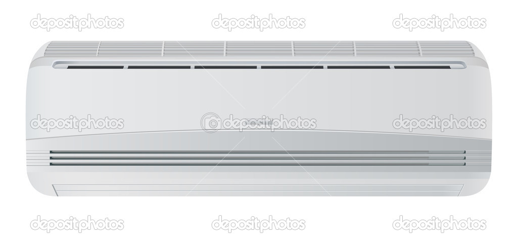 Air conditioner. Vector illustration. Isolated on white background — Stock Vector #9139370