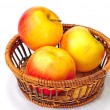 Basket of Red Delicious apples — Stock Photo