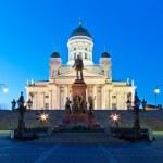 Senate Square at night in Helsinki, Finland — Stock Photo #7005732