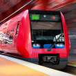 Modern high speed train with motion blur — Stock Photo