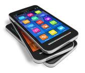 Serie di smartphone touchscreen — Foto Stock