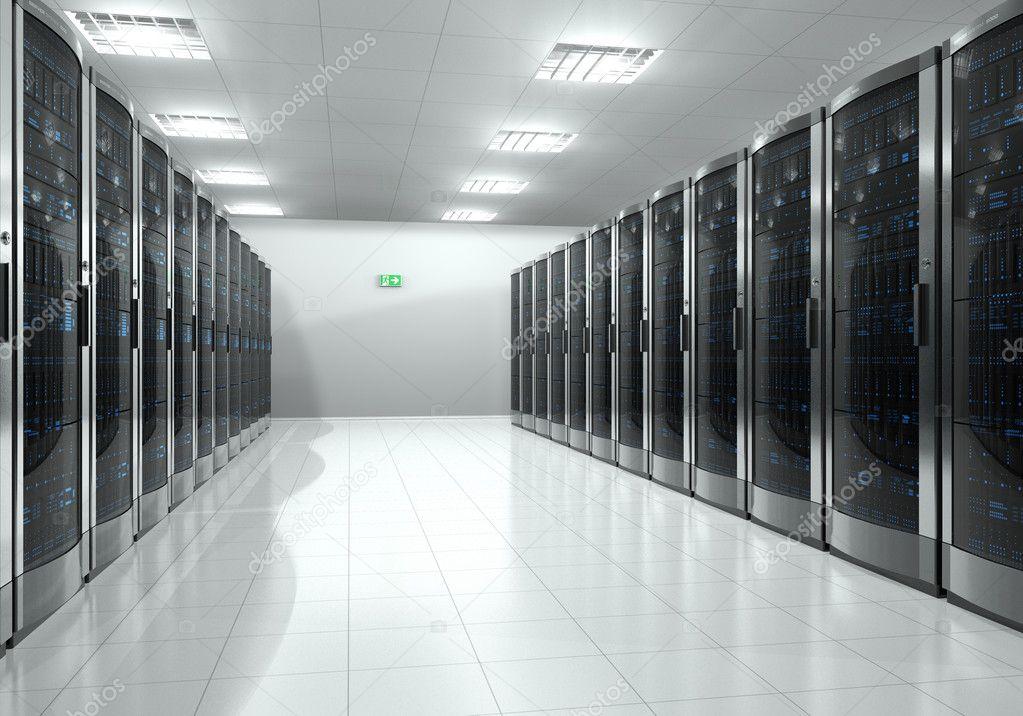 Server Room Photography : Server room interior — stock photo scanrail