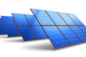 Rows of solar battery panels — Stock Photo