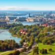 Aerial panorama de stockholm, Suède — Photo