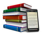 Smartphone as an electronic book — Stock Photo