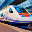 Stock Photo: Modern high speed train with motion blur