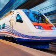 Royalty-Free Stock Photo: Modern high speed train with motion blur
