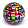 Royalty-Free Stock Photo: Globe with world flags