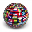 Globe with world flags — Stock Photo #7247592