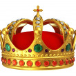 Golden royal crown - Stock Photo