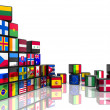 Royalty-Free Stock Photo: Collage from cubes with flags