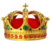 Golden royal crown — Foto de Stock