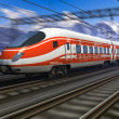 Modern high speed train with motion blur — Stock Photo #7489999
