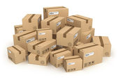 Heap of cardboard boxes — Stock Photo