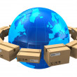 Worldwide shipping concept — Stock Photo