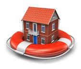 Real estate insurance concept — Stock Photo