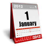 Desktop calendar 2012 — Stock Photo