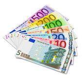 Set of Euro banknotes — Stock Photo