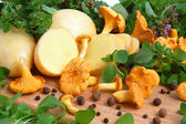 Mushrooms with potatos — Stock Photo