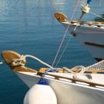 Luxury white yacht — Stock Photo