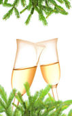 Pair of champagne flutes — Stockfoto
