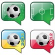 Football and flag icon — Stock Vector