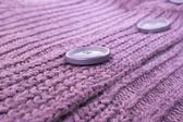 Buttons on sweater — Stock Photo