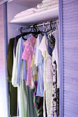 Clothes in closet — 图库照片