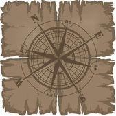 Old damaged dark sheet of paper — Stock Vector