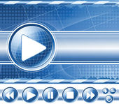Background with multimedia player controls — Stock Vector