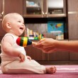 Mother playing with baby — Stock Photo #7628904