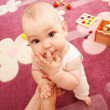 Mother playing with baby — Stock Photo #7630499