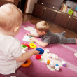 Brother and sister playing — Stock Photo #7641772