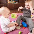 Brother and sister playing — Stock Photo #7658095