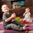 Brother and sister playing — Stock Photo #7658220