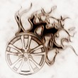 Stock Photo: Burning wheel