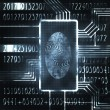 Fingerprint and code — Stock Photo #6838206