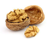 Walnuts in closeup — Stock Photo