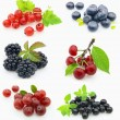 Collage from fresh berries - Stock Photo