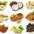 Stock Photo: Collage from nuts