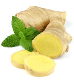 Ginger with mint — Stock Photo