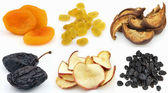Collage from dried fruits — Stock Photo