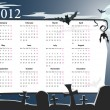 Vector Halloween calendar 2012 with cemetery - Vettoriali Stock 