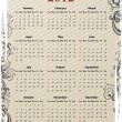 European Vector grungy calendar 2012 — Stock Vector