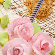 Birthday cake with candles — Stock Photo #6802330