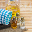 Stock Photo: Set of cosmetic oils for SPA