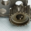 Gears and bearings - Stock Photo